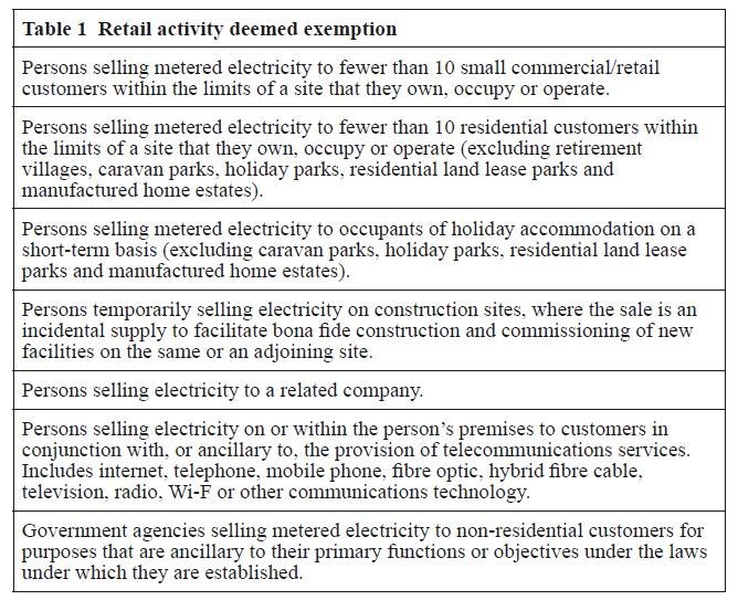 general exemption order